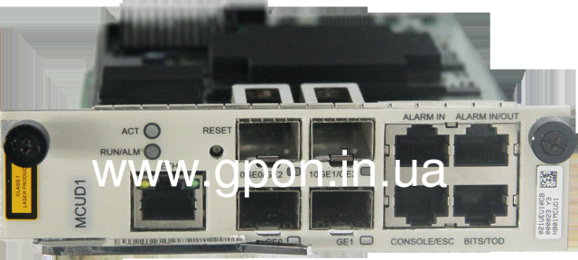 Плата контроля MCUD1 (4x1G Combo Uplink, 2x10G Uplink*, MA5608Т)